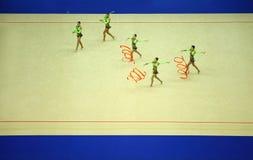 显示体操运动员丝带俄国 库存图片