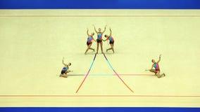 显示体操运动员丝带 库存图片