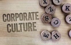 显示公司文化的概念性手文字 公司分享了的企业照片陈列的信仰和想法 库存图片