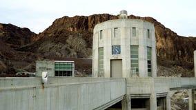 显示内华达时间的射击时钟在胡佛水坝 影视素材