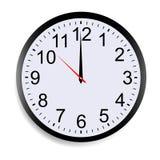 显示十二个o `时钟的圆的时钟表盘 库存例证
