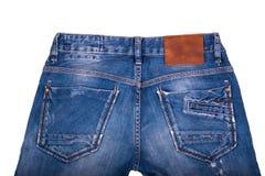 显示口袋设计的后面斜纹布的特写镜头 库存图片