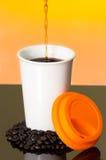 显示咖啡的小河了不起的图象涌入 免版税库存照片