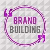 显示品牌大厦的概念性手文字 企业引起了悟的照片文本建立和提升公司 皇族释放例证