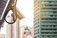显示器事件的安全红外线照相机在城市 免版税库存照片