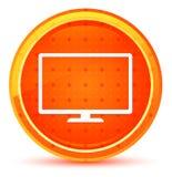 显示器象自然橙色圆的按钮 皇族释放例证