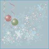 显示圣诞节球的传染媒介例证 库存照片