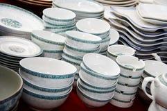 显示堆的碗 免版税库存照片
