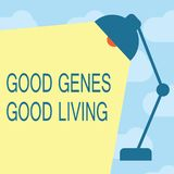 显示好基因好生活的文本标志 概念性照片在长寿健康生活中继承了基因结果 向量例证