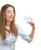 显示妇女的美丽的看板卡 免版税库存照片