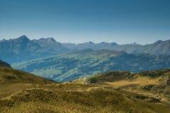显示山的瑞士风景 库存图片
