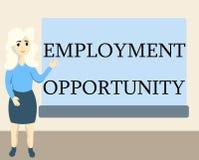 显示工作机会的文字笔记 陈列歧视的企业照片反对申请人均等政策 向量例证