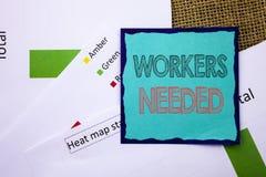 显示工作者的概念性文字文本需要 概念意思查寻事业资源雇员书面的失业问题 免版税库存图片