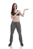 显示年轻人的健身女孩 图库摄影