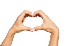 显示心脏的手 免版税库存照片