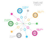 显示您的与Infographic元素的数据的时间安排 免版税图库摄影