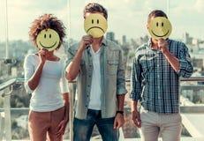 显示情感的青年人 免版税图库摄影