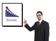 显示成功图象的商人 免版税库存图片