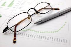 显示成功的企业图表 免版税库存图片