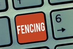 显示操刀的概念性手文字 与剑的企业照片陈列的竞争体育战斗安装系列 库存图片