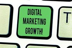 显示数字销售的成长的文本标志 概念性照片更加了不起的网上产品销售或服务收入键盘键 库存图片