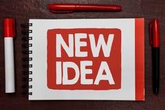 显示新的想法的文本标志 概念性照片A想法或构想提到精神活动重要想法highlig产品  向量例证