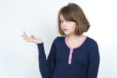 显示方式的女孩的画象 免版税库存图片