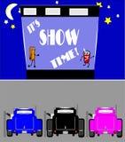 显示时间在驱动器  免版税库存照片