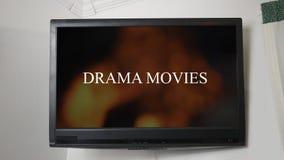 显示消息戏曲电影的电视 股票录像