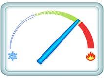 显示温度计 库存照片