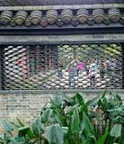 显示漏的窗口的Koshiro墙壁,美妙地仿造 免版税库存照片