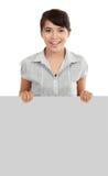 显示牌妇女的空白商业 库存照片