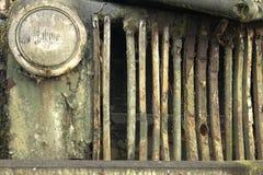 显示生锈的卡车 免版税库存图片