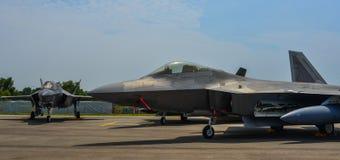 显示的军用飞机在新加坡 免版税库存照片