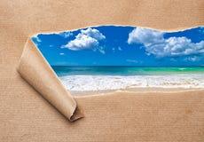 显示的夏天海滩 库存照片