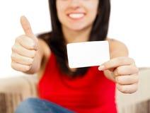 显示看板卡的妇女 免版税库存图片