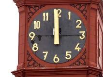 显示确切的时间,伊赫拉瓦河,欧洲的历史的钟楼 库存照片