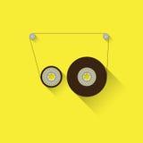 显示磁带可录的babin透明 免版税库存图片
