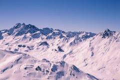 俯视的Ischgl滑雪胜地 库存图片