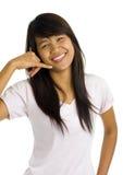 显示符号妇女年轻人的亚洲美好的购&# 图库摄影