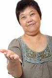显示符号妇女的亚洲空白现有量 免版税库存照片