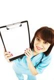 显示符号的空白剪贴板医生护士 库存照片