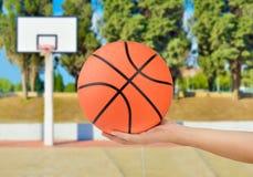 显示篮球球 库存图片