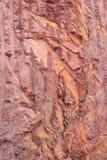 显示红色土壤和岩石的山纹理 库存图片