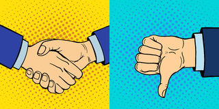 显示聋哑不同的姿态人的胳膊的手举行通信和方向设计拳头接触流行艺术样式 库存照片