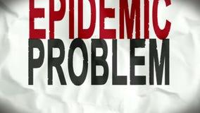 显示肥胖病期限的起皱纹的页 库存例证