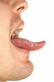 显示舌头 库存照片