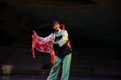 显示花围巾江西歌剧一个杆秤 库存图片