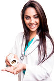 显示药片的医生 库存图片