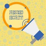 显示被假定的安全的文本标志 从攻击的概念性照片系统保险柜由于攻击者假设它的保险柜 向量例证